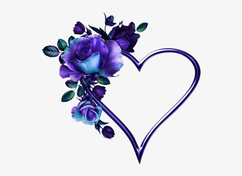 Фото, Автор Svetlera На Яндекс - Blue Roses With Heart, transparent png #1912203
