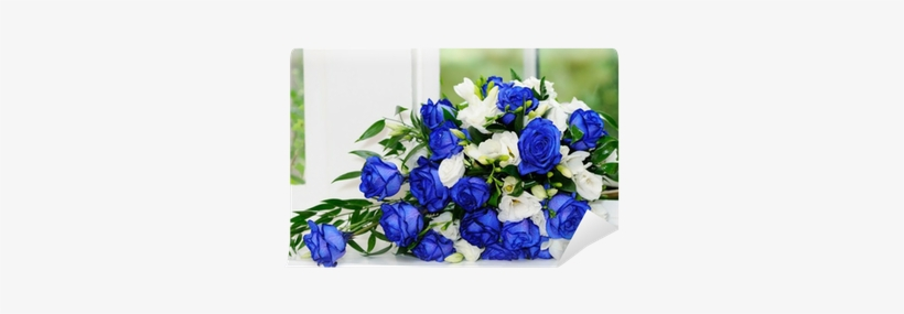 White Rose And Blue Roses, transparent png #1912367