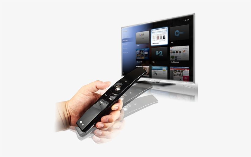 An Lg Tv Remote Control Uses Motion Control To Select - Tv And Remote Png, transparent png #1913515