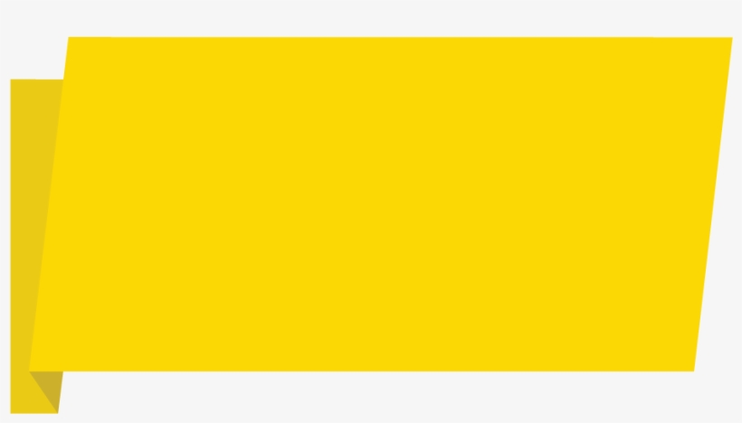 Yellow Banner Download Png Image - Banner Yellow Png, transparent png #1914647