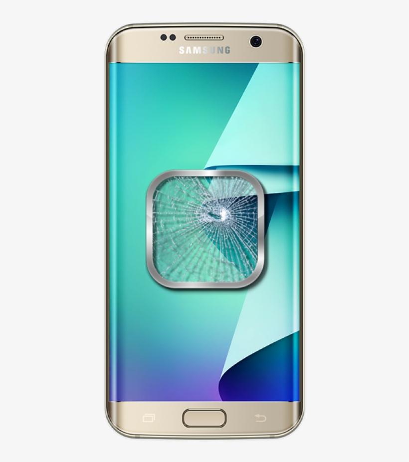 Repair/galaxy S7 Edge Glass Screen Lcd Gold Platinum - Samsung Galaxy S7 Edge, transparent png #1916144