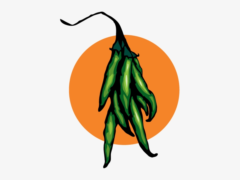 Mago Hot Sauce Laguna Beach Illustration Green Pepper - Tabasco Pepper, transparent png #1916534
