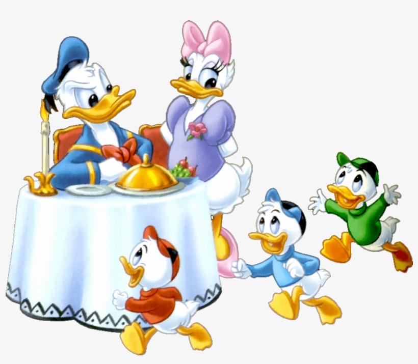 Donald Duck Family - Donald Duck Family Cartoon, transparent png #1916903