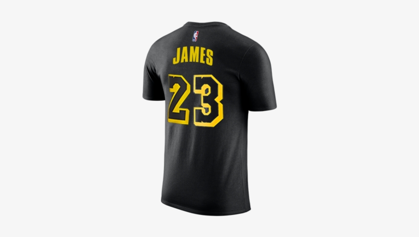 Los Angeles Lakers Lebron James City Edition T-shirt - Lebron James Shirt Jersey Lakers, transparent png #1917898