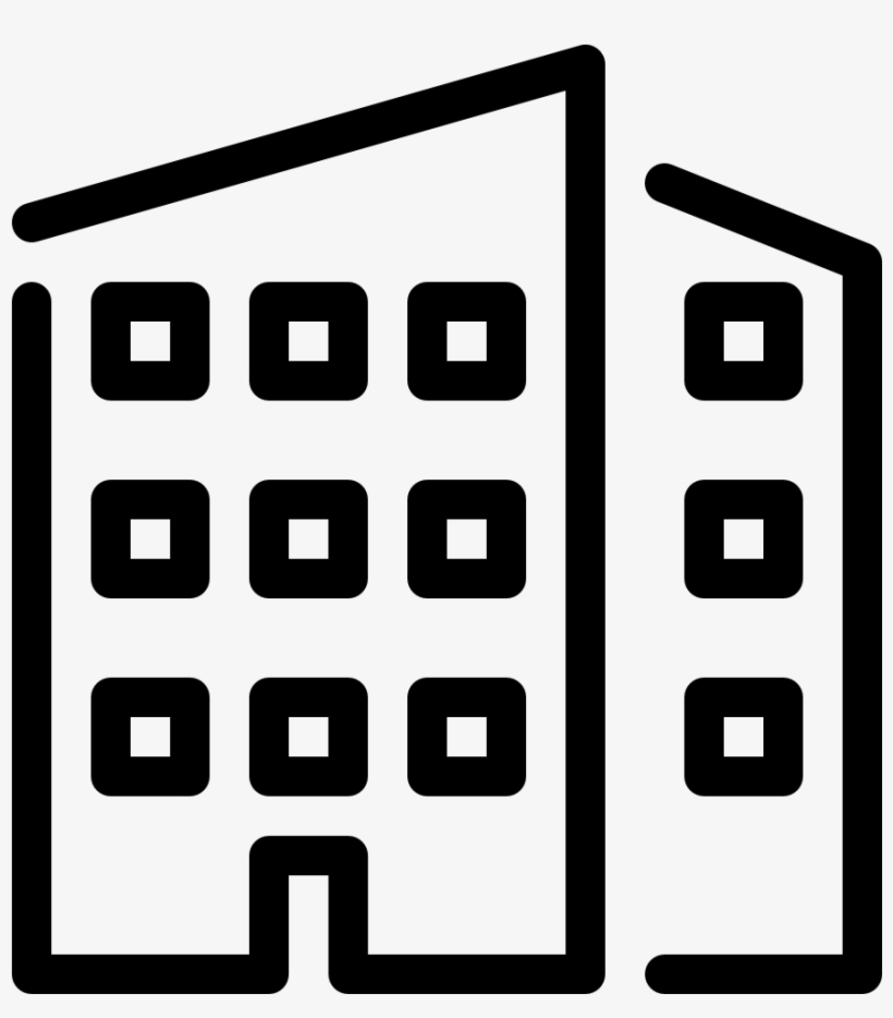 Building Office Icon - Office Building Line Icon, transparent png #1918017