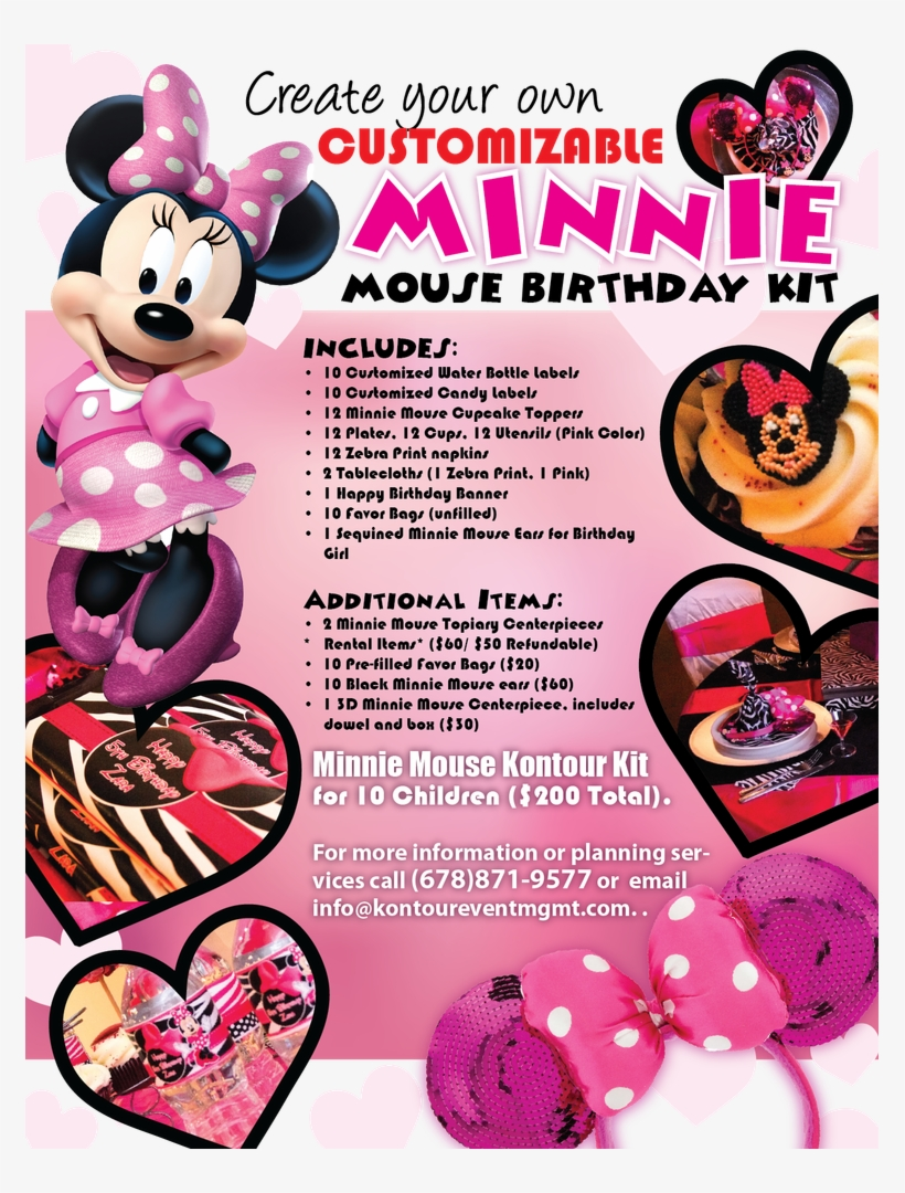 Previous - Card Birthday Value A200 Girls Minnie Mouse-pack Of, transparent png #1919798