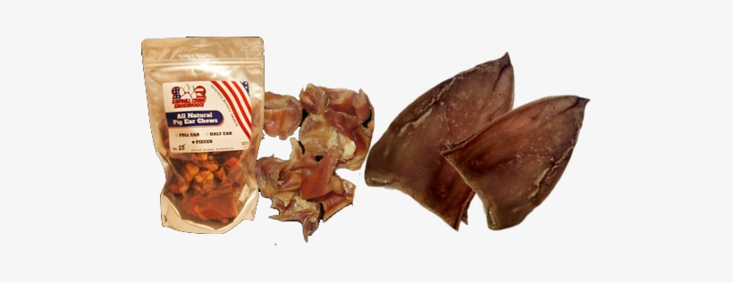 Pig Ears - Pig Ear Pieces 20 Pack Sourced And Made Usa All Natural, transparent png #1920500