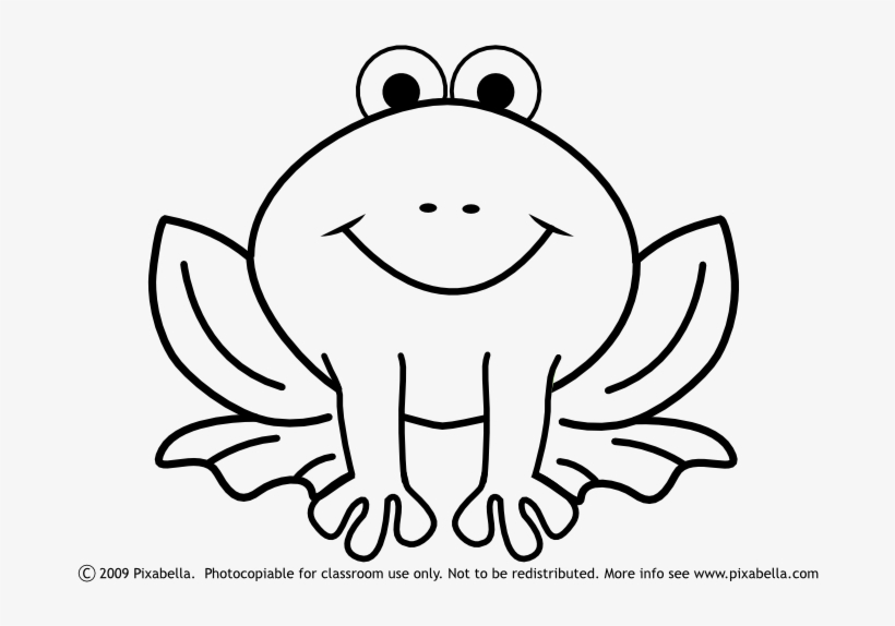 Cute Frog Clipart Black And White Free Clipart Easy Frog Coloring