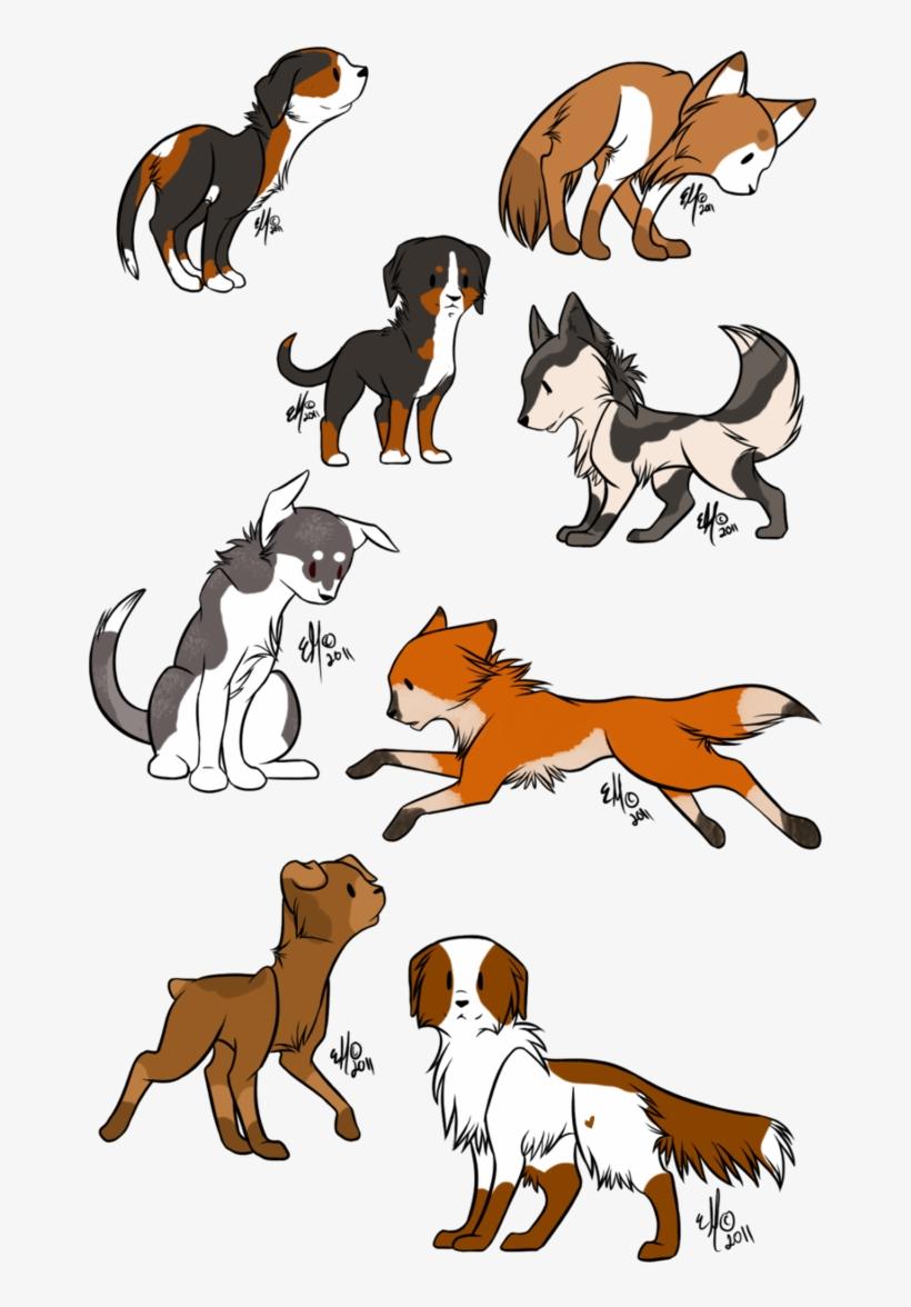 Deviantart Dog - Anime Chibi Dog, transparent png #1921654