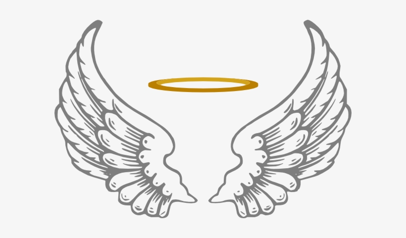 966bfb9b3 Clipart Download Halo With Wings Clip Art At Clker - Angel Wings And Halo  Png