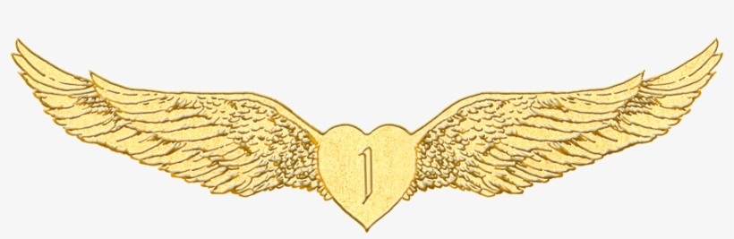 The Winged Heart Emblazoned With The Number One Represents - Wing Gold Transparent Heart, transparent png #1922550