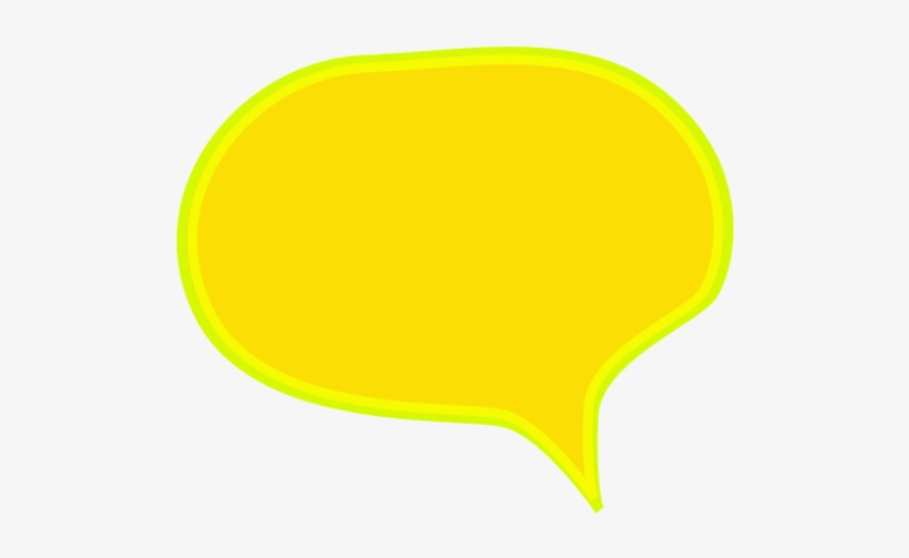 Comic Style Speech Bubble - Yellow Comic Speech Bubble Png, transparent png #1923063