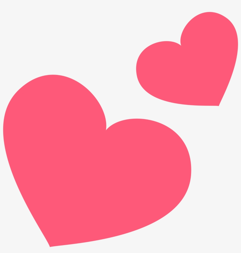 Pink Emoji Hearts Png » Path Decorations Pictures - Two Hearts Emoji Png, transparent png #1924942