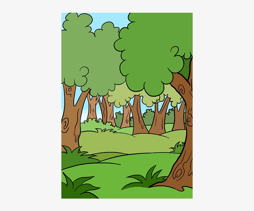 Cartoon Forest Png - Cartoon Drawing Of A Forest, transparent png #1925162