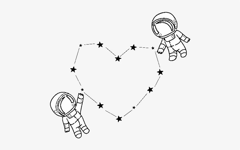 Dibujo De Amor En El Espacio Para Colorear Dibujos De Dos