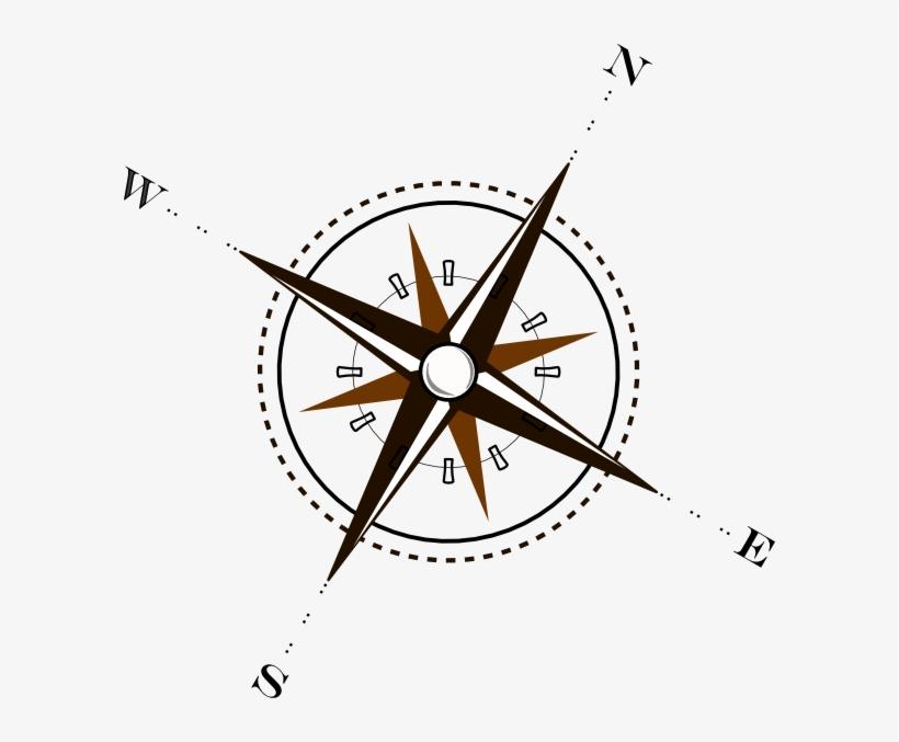 Library Brown Clip Art At Clker Com Vector - Compass Clip Art, transparent png #1929375