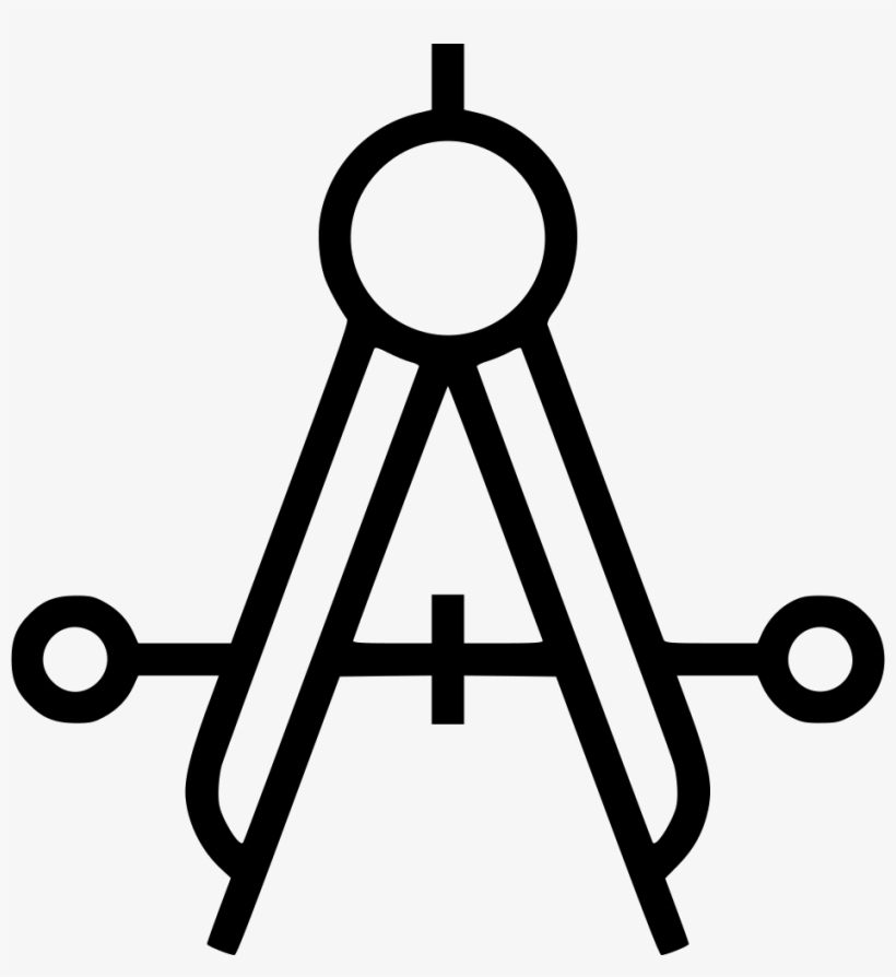 Drafting Compass Comments - White Drafting Compass Icon Transparent, transparent png #1929688