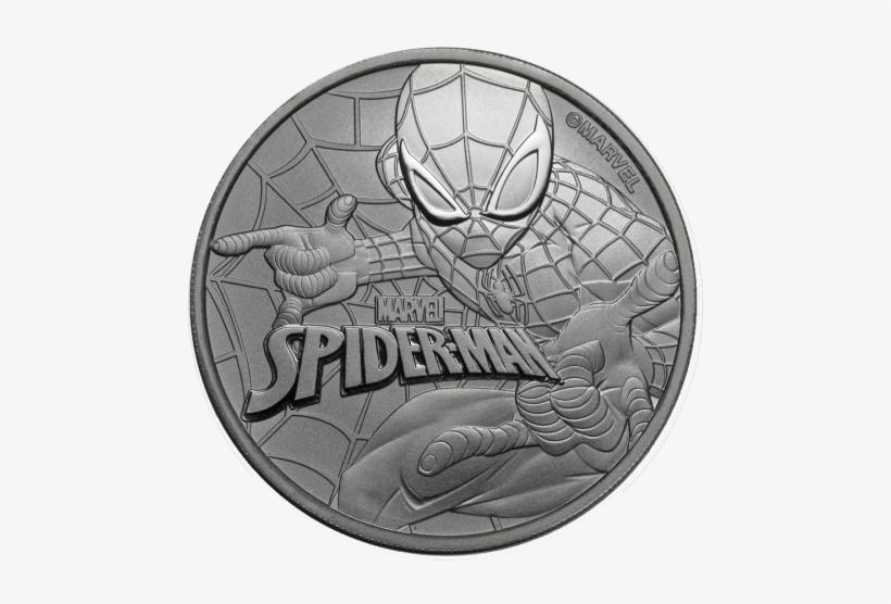 Marvel Comics Spider Man 1 Oz - Tuvalu Spider-man 1 Oz One Dollar Silver Coin Gem Bu, transparent png #1931859