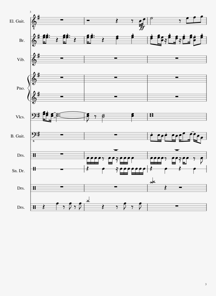 Ryu's Theme Street Fighter Sheet Music Composed By - Sheet Music, transparent png #1932457