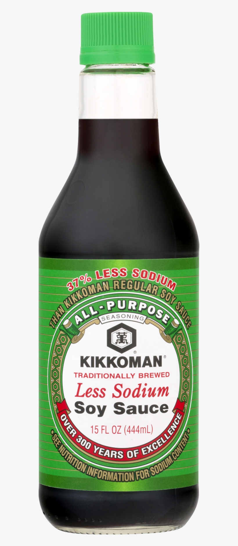 Kikkoman Less Sodium Soy Sauce - 5 Fl Oz Bottle, transparent png #1932608