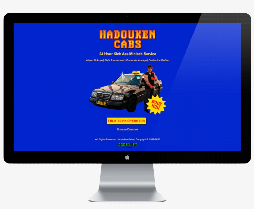 The First One Called Hadouken Cabs Was For A Fictional - Computer Monitor, transparent png #1932846