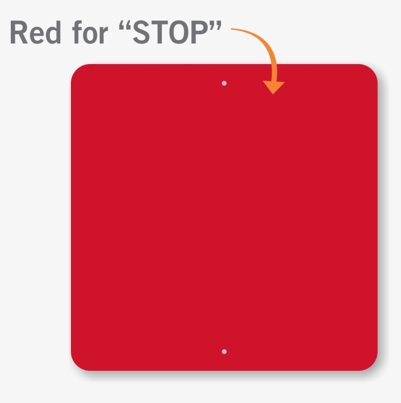 Red Color Plain Square Learn More - Stop Sign Red Color, transparent png #1933828