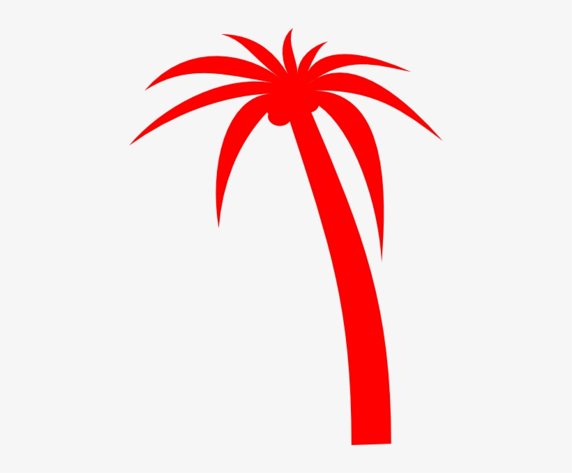Svg Free Red Clip Art At Clker Com Online - Red Palm Trees Png, transparent png #1933856