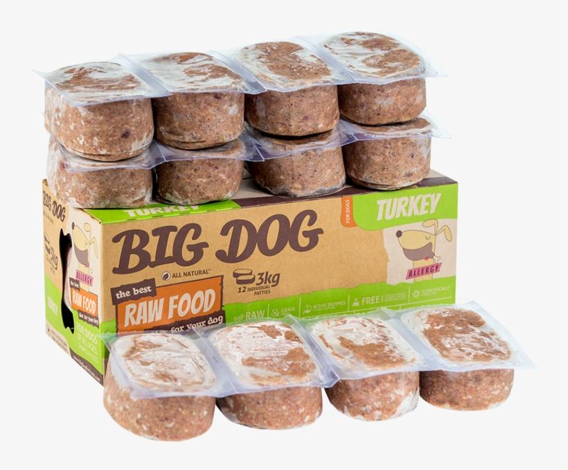 Barf Big Dog Turkey 3kg - Big Dog Frozen Raw Dog Food Chicken - 3kg, transparent png #1935291