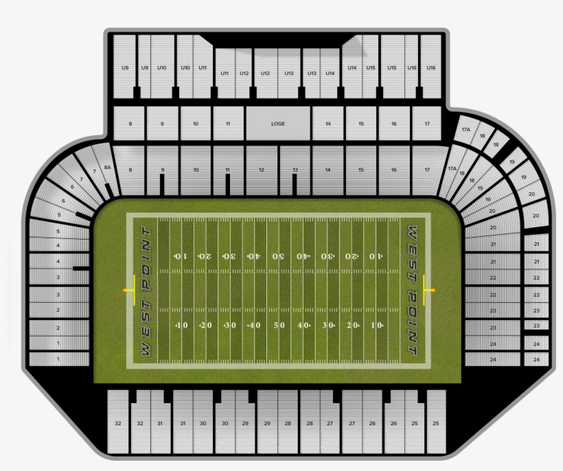 Army Michie Stadium Seating Chart Elcho Table Transpa Png 1935318