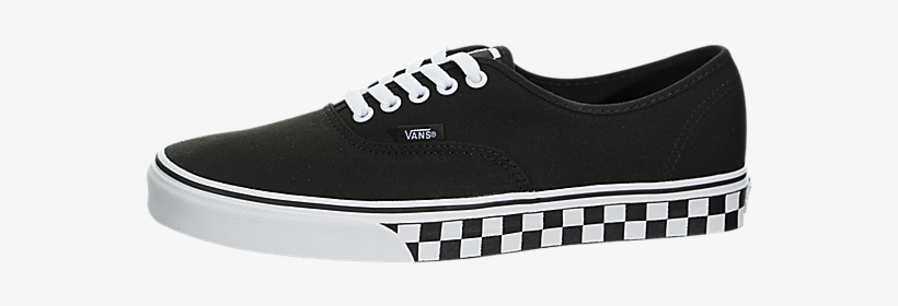4bf20c9142ab28 Vans Authentic (black) - Vans Authentic Checker Tape Black White ...