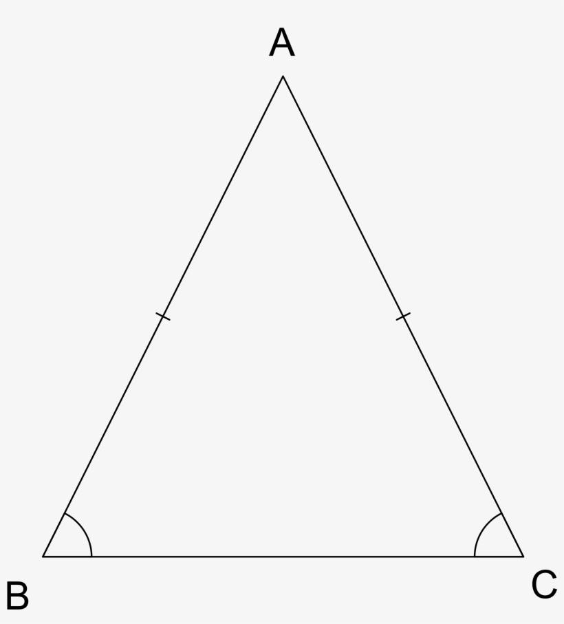 Triangulo Isósceles Teorema - Triangle - Free Transparent PNG ...