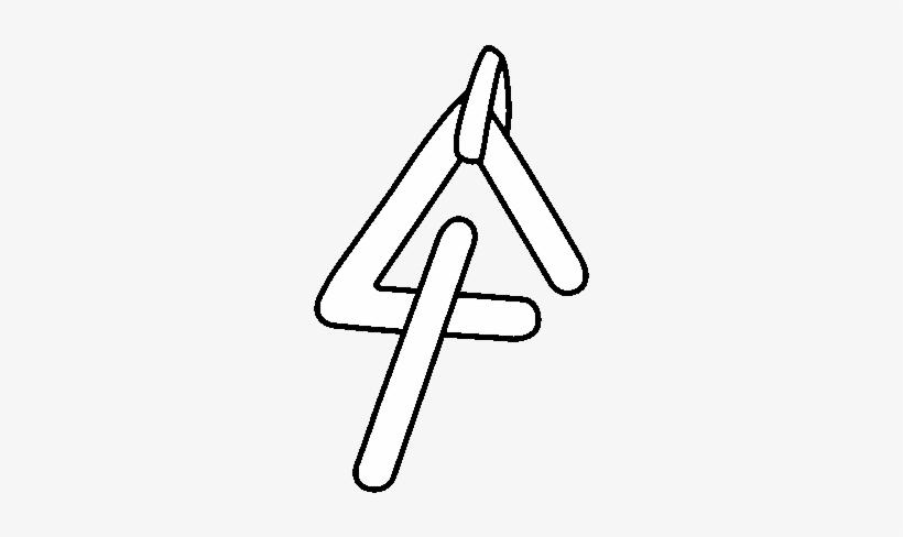 Dibujo De Instrumento Triangulo Para Colorear - Triangulo Instrumento Para Dibujar, transparent png #1939991