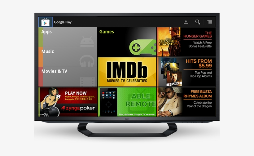 Google Announced Today That It's Bringing Google Play - Google Tv, transparent png #1942402