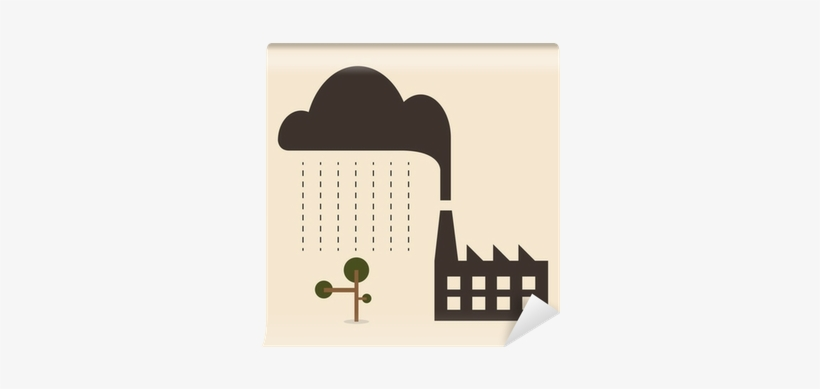 Acid Rain Cause From Industry Pollution Falling To - Adobe Stock Imagenes Lluvia Acida, transparent png #1943256