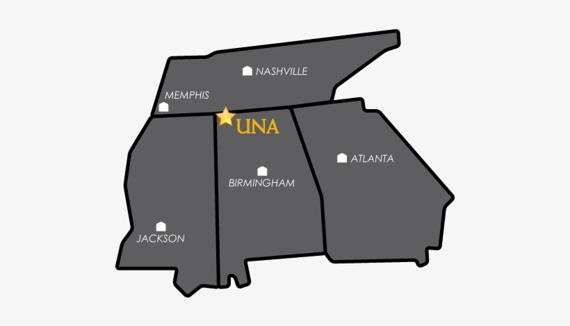 Map Of University Of North Alabama Campus - University Of Alabama On Map, transparent png #1947214