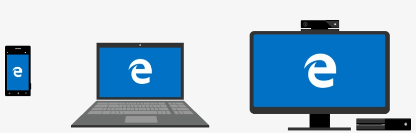 Illustration Showing Microsoft Edge Running On Windows - Microsoft Edge Xbox One, transparent png #1948034