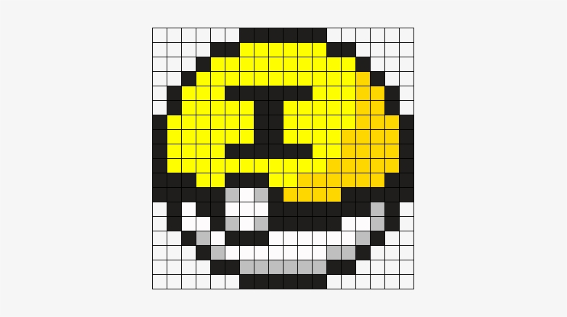 Team Instinct Pokeball Perler Bead Pattern / Bead Sprite - Pixel Art Tokyo Ghoul, transparent png #1949074