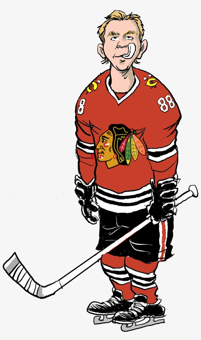 Patrick Kane - Cartoon Hockey Player Transparent, transparent png #1951550