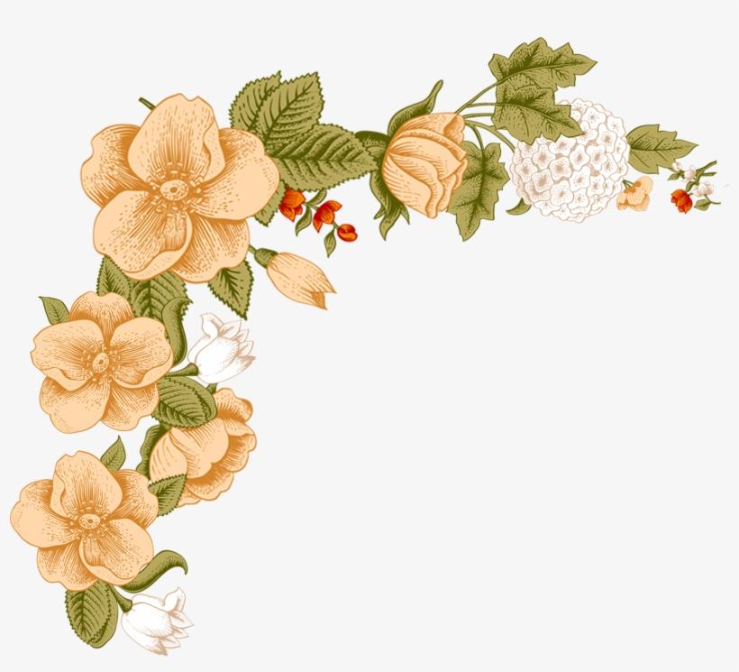 Flower Floral Design Clip Art - White Flower Frame Png, transparent png #1951641