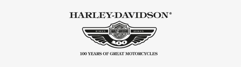 Harley-davidson Logos In Vector Format - Harley Davidson 100 Years, transparent png #1951665