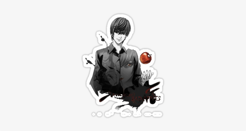 Death Note Light Yagami Crazy - Bad Apples Death Note Anime 32x24 Print Poster, transparent png #1953250