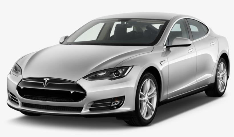 2013 Tesla Model S Sedan Angular Front - Tesla Model S 2015 Silver, transparent png #1956527