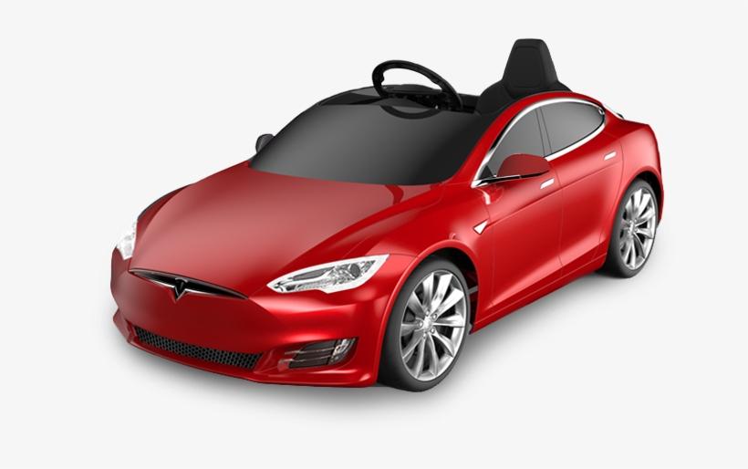 Tesla Kids Car Tesla For Kids Model S Battery Powered - Tesla Model S, transparent png #1956625