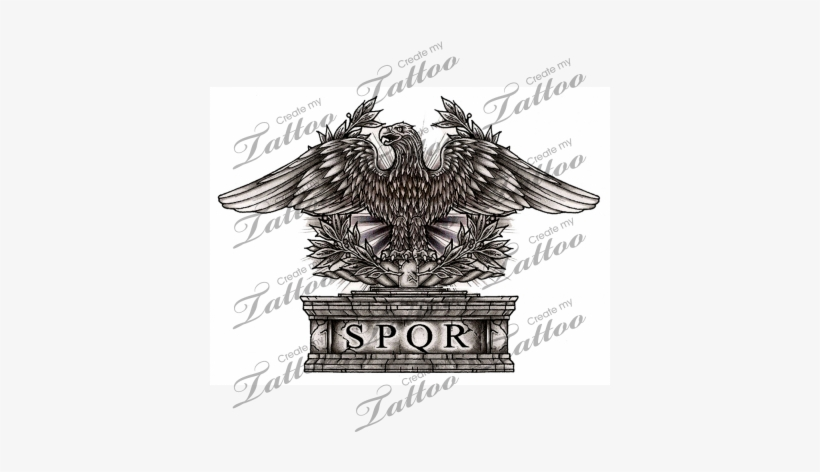 a828af9633ae2 Transparent Stock Marketplace Tattoo Eagle Createmytattoo - Roman Eagle  Tattoo, transparent png #1957521