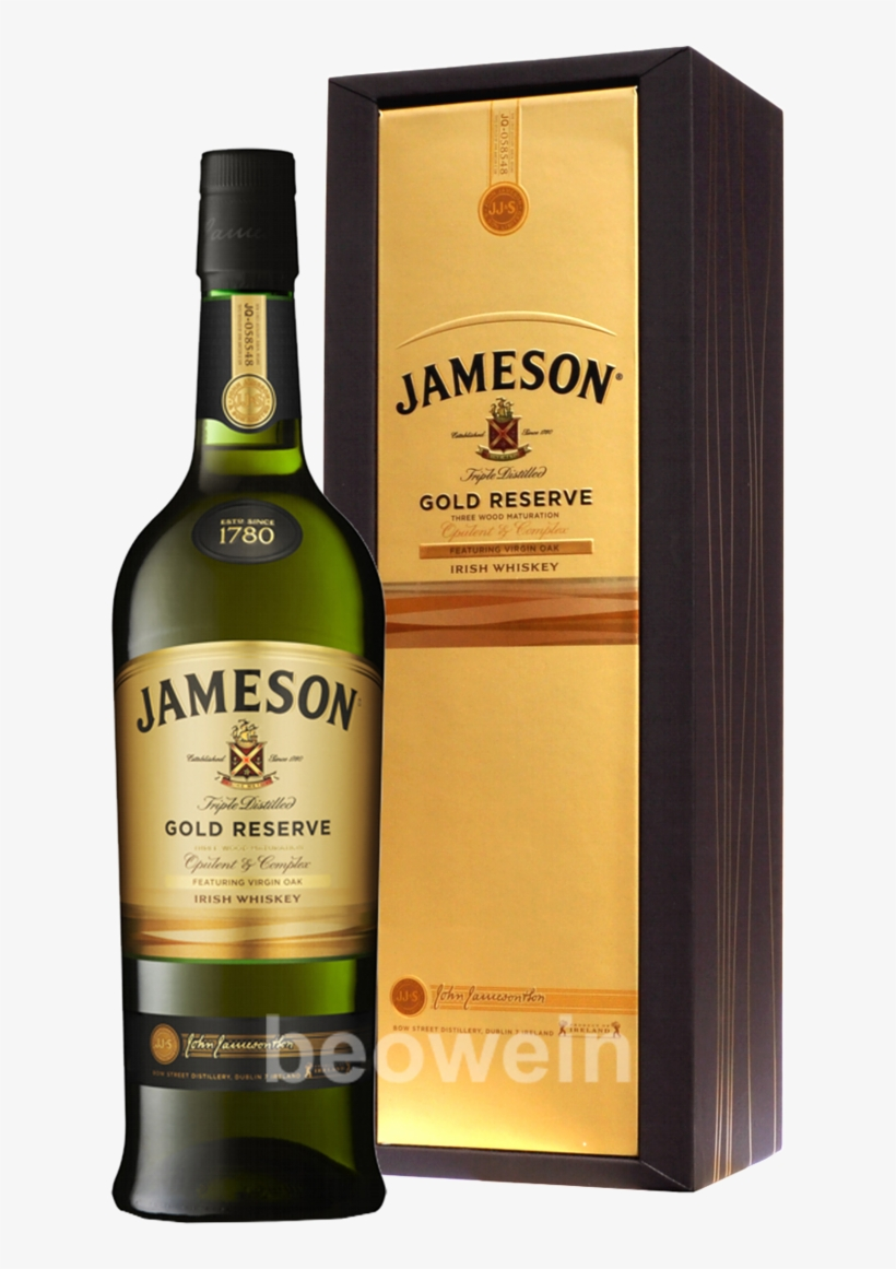 Jameson Gold Reserve 0,7 L - Jameson Irish Gold Whiskey - 750 Ml Bottle, transparent png #1958652