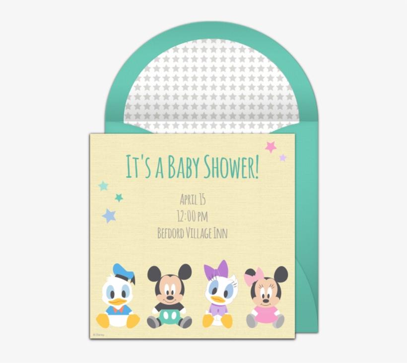 Free Disney Baby Shower Online Invitation Punchbowl - Baby Shower Invite Disney, transparent png #1963424