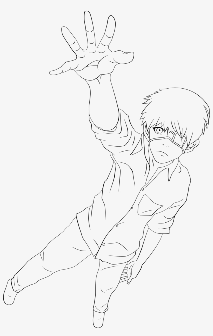 Quick Tokyo Ghoul Coloring Pages Ken Kaneki Lineart Tokyo Ghoul Line Drawing Free Transparent Png Download Pngkey