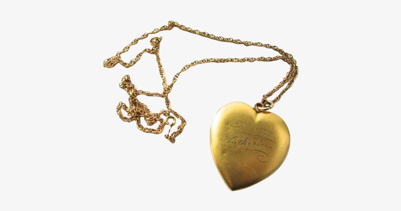 Heart Pendant Accessories Sticker - Gold Pendant Heart With Chain Png, transparent png #1965215