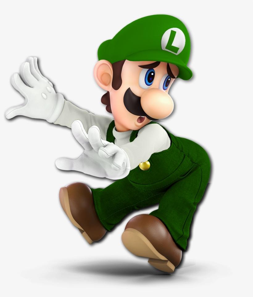 Custom Spooky Ultimate Renders On Twitter - Luigi Smash Bros Ultimate, transparent png #1965422