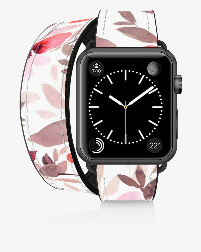 The Iconic Double Tour Apple Watch Band Is Made With - Casetify Classic Lady Leather Apple Watch Band, transparent png #1965872